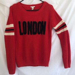 Red Knitted LONDON Sweater